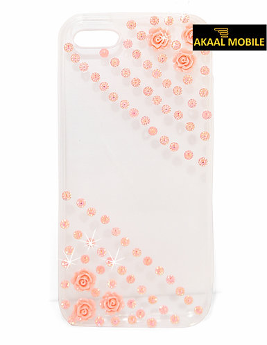 Backcover transparent mit Blumenmuster iPhone 6/6s