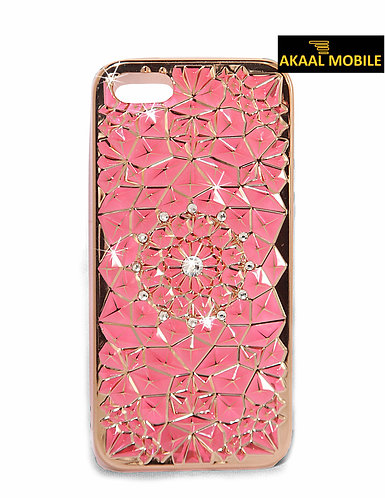 Backcover mit Rosa Steinen iPhone 6/6s