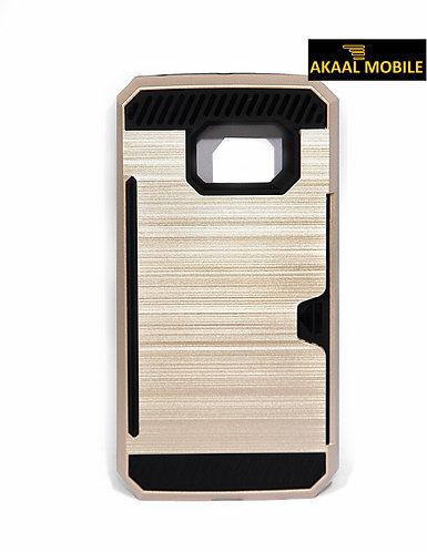 Backcover Gold Gebürstetes Muster mit Cardholder