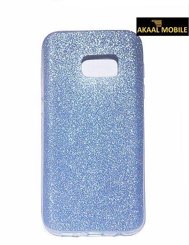 Backcover für Samsung S7 Lila Glitzer Muster