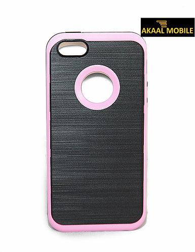 Backcover Pink mit gebürstetem effekt iPhone 5/5s