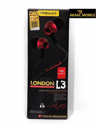 PIBlue London L3 Earphone
