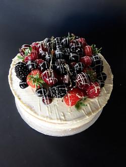 Mixed Summer Berry Celebration Cake