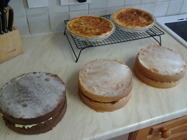 Victoria Cakes and Quiches Cooling
