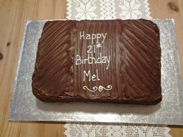 Chocolate Sponge Birthday Cake