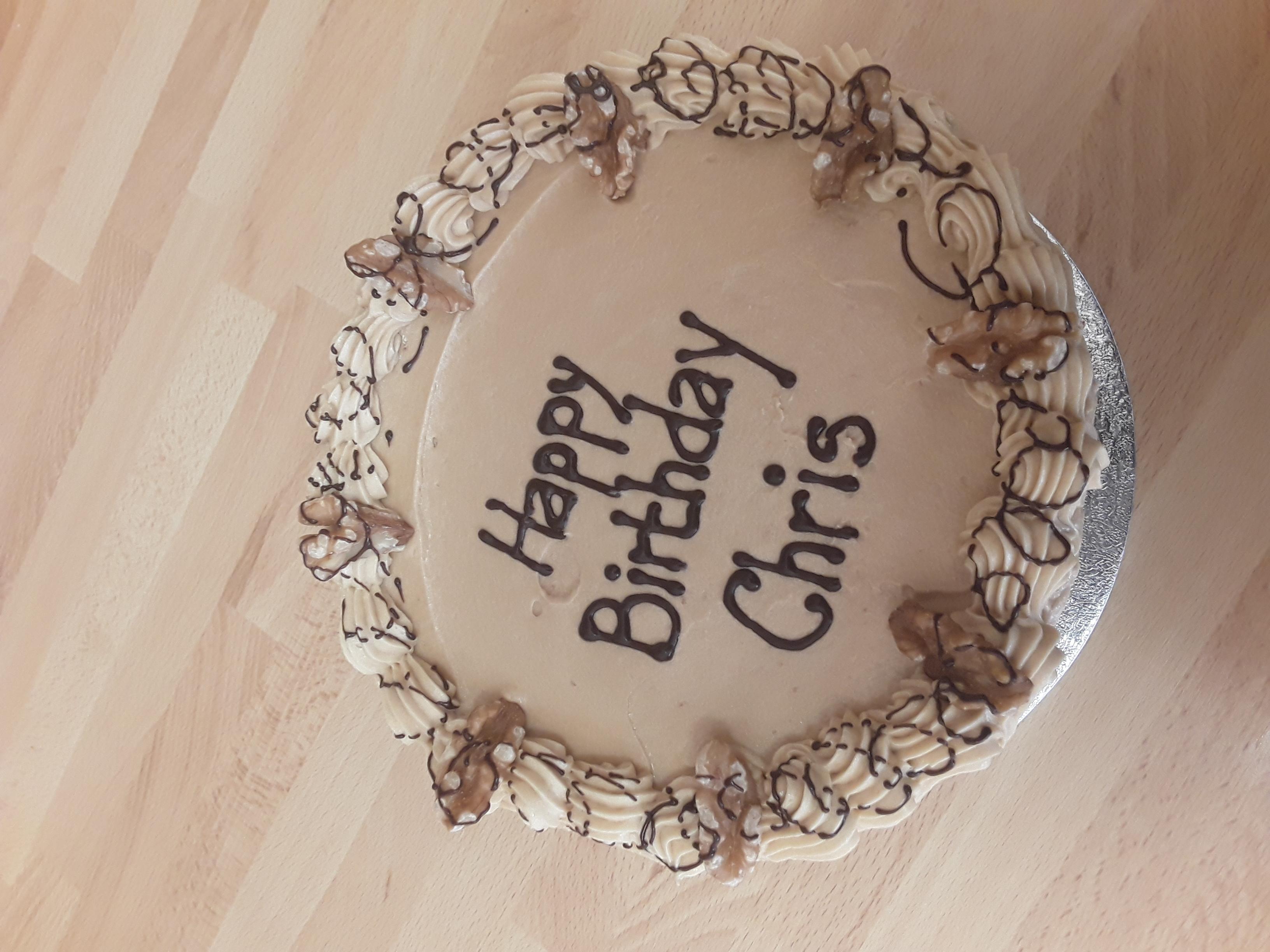Coffee Walnut Celebration Cake