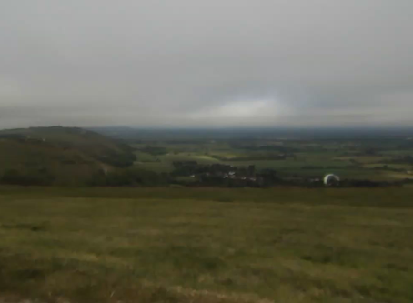 SKy diving at devils dyke this morning
