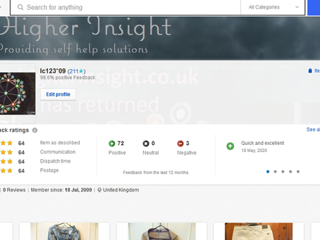 My ebay shop current stock