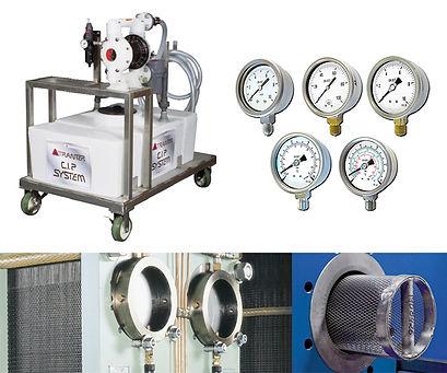 CIP (Equipo de limpieza en sitio), Manometros, Termometros e Instrumentacion, Filtro o rejilla para Intercambiadores de Calor