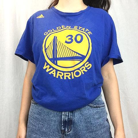 Golden State Warriors Adidas Tee Steph Curry   Thrift Ninja