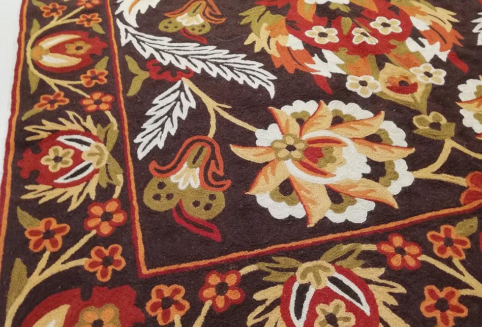 שטיח 120*180 קשמירי בעבודת יד  בסגנון וינטג'