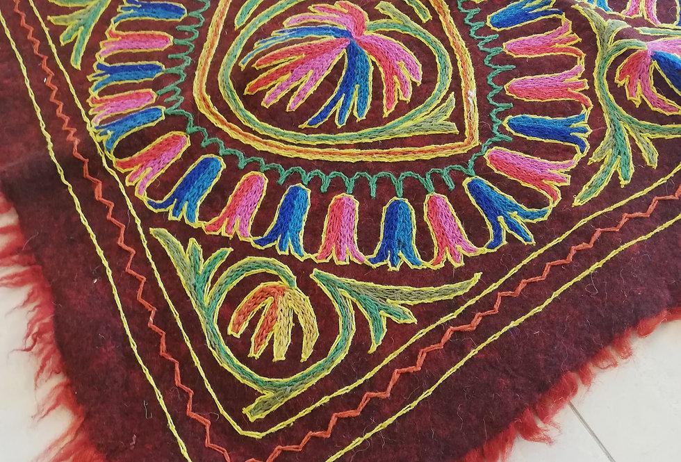 שטיח צמר על צמר 120*90 מנדלה