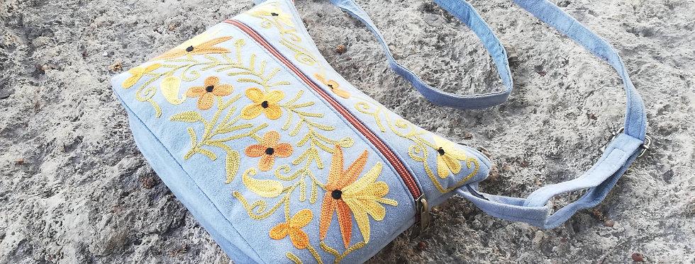 תיק נאיה רקום מבד nayya bag with embroidery