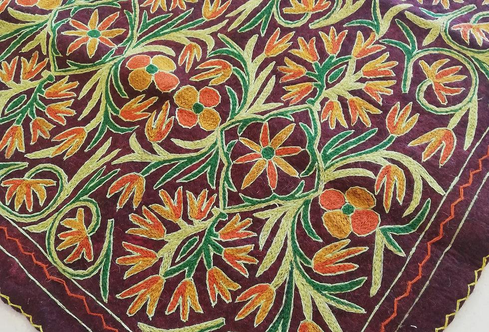 שטיח צמר על צמר 120*180 בגווני זריחה