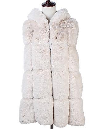 Cream Faux Fur Gilet