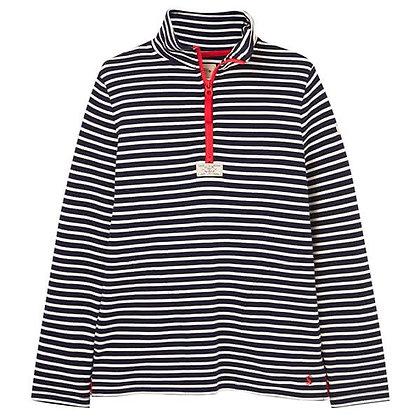 Joules Striped Half Zip Sweatshirt