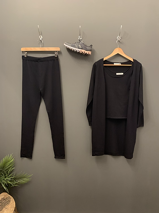 3 Piece Loungewear - Black