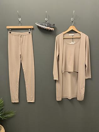 3 Piece Loungewear - Beige