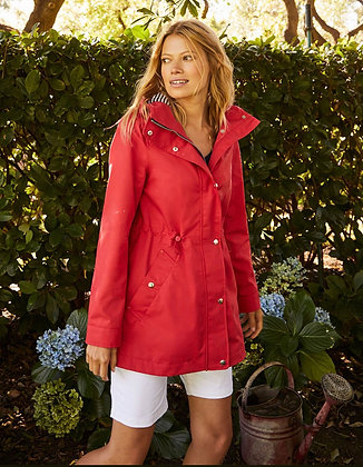 Joules Red Shoreside Coat SS21