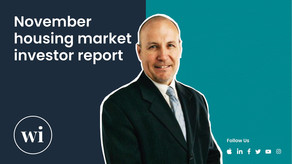 Dr Andrew Wilson's November Real Estate Report