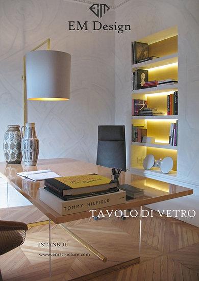 Tavolo Di Vetro Makam Masası