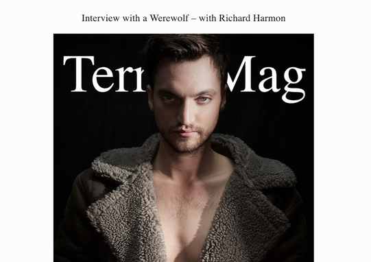 Interview with a Werewolf – with Richard Harmon