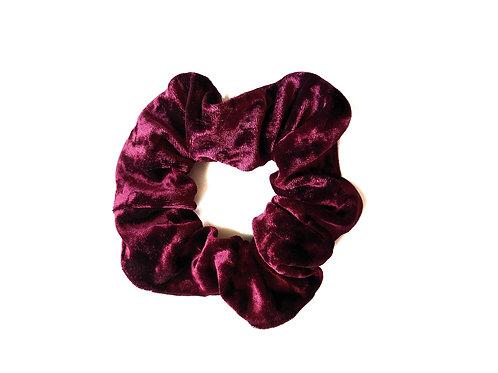 Ruby Velvet Scrunchie