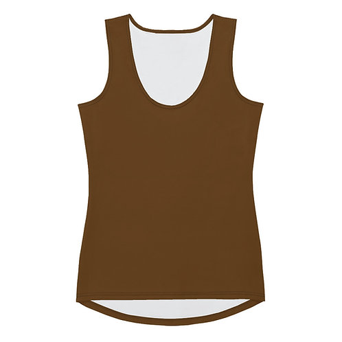 Cut & Sew Tank Top Brown