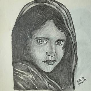 The afghan girl imitation
