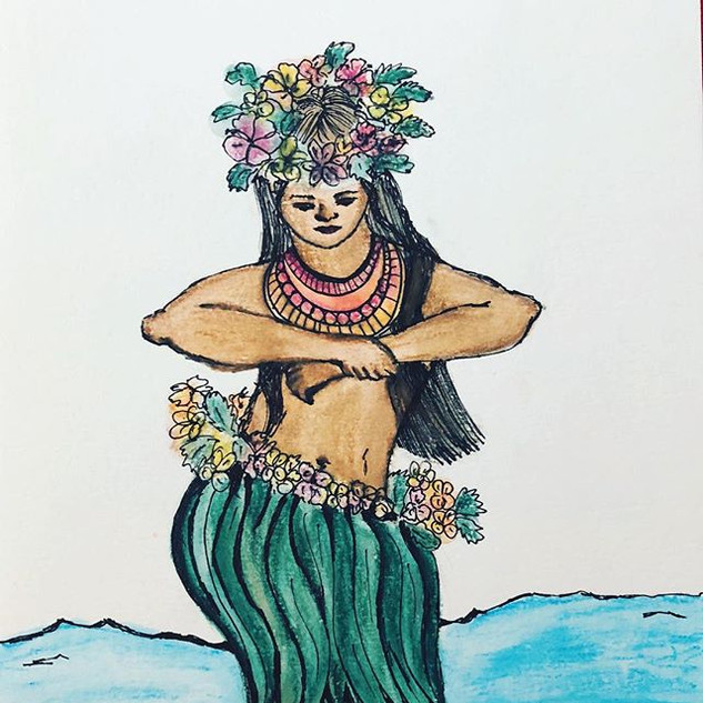 The dancing Polynesian girl