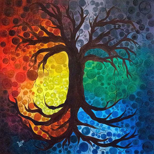 Tree of life #canvas #canvaspainting #oi
