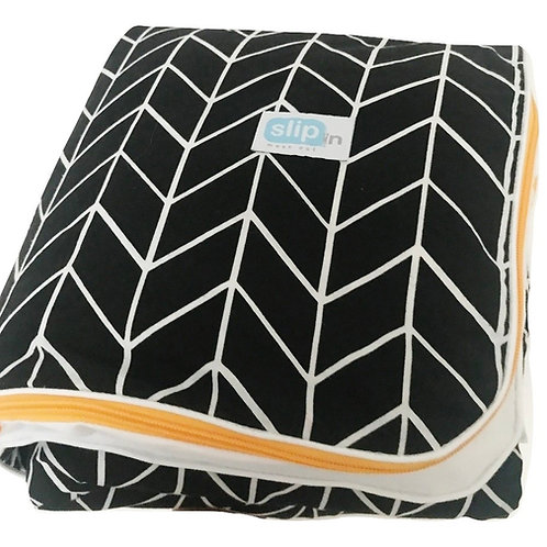 SLIPin - 3in1 ready to use bedding  -Black herringbone