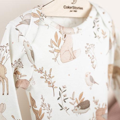 Baby Vest - Long Sleeve -0-3 months- 62cm - ColorStories
