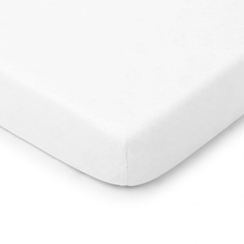 Cot/Cot bed fitted sheet  -White