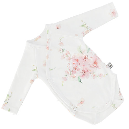 100% organic cotton Japanese Flowers vest