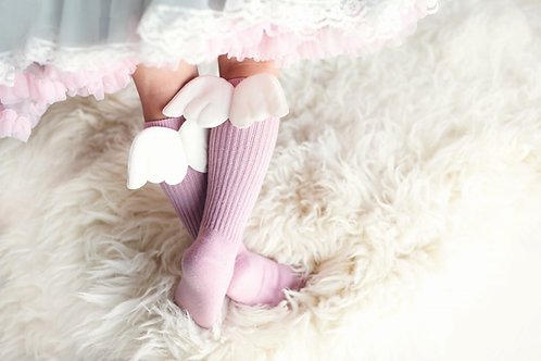 ANGEL KNEE HIGHS - PINK