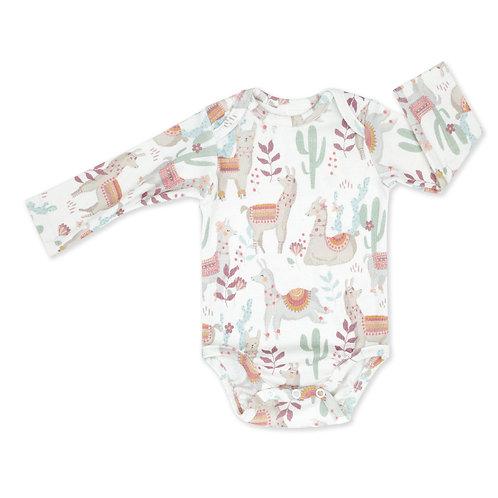 Baby Vest - Long Sleeve  - Llamas
