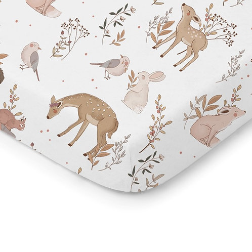 Cot bed fitted sheet- 140cm x 70cm