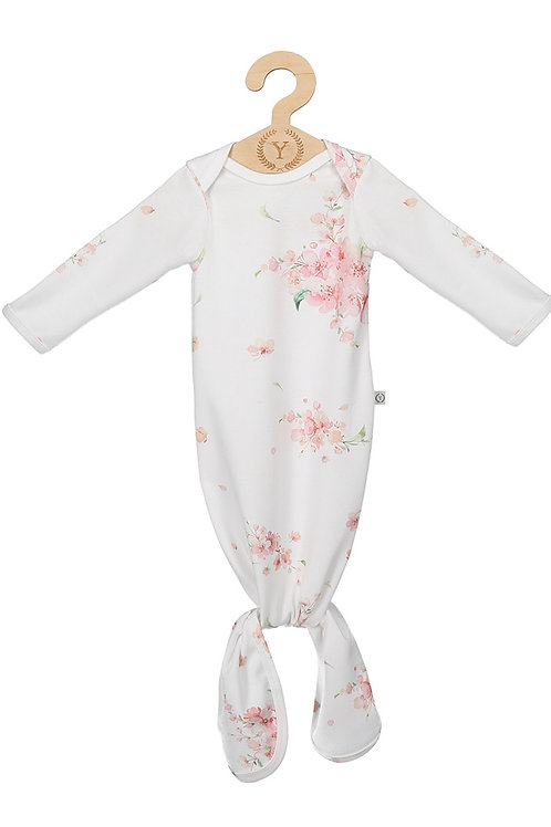 100% organic cotton Japanese Flowers vest with knot 0-6 months
