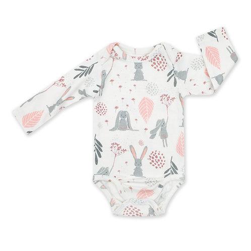 Long Sleeve Baby Bodysuit - Bunny