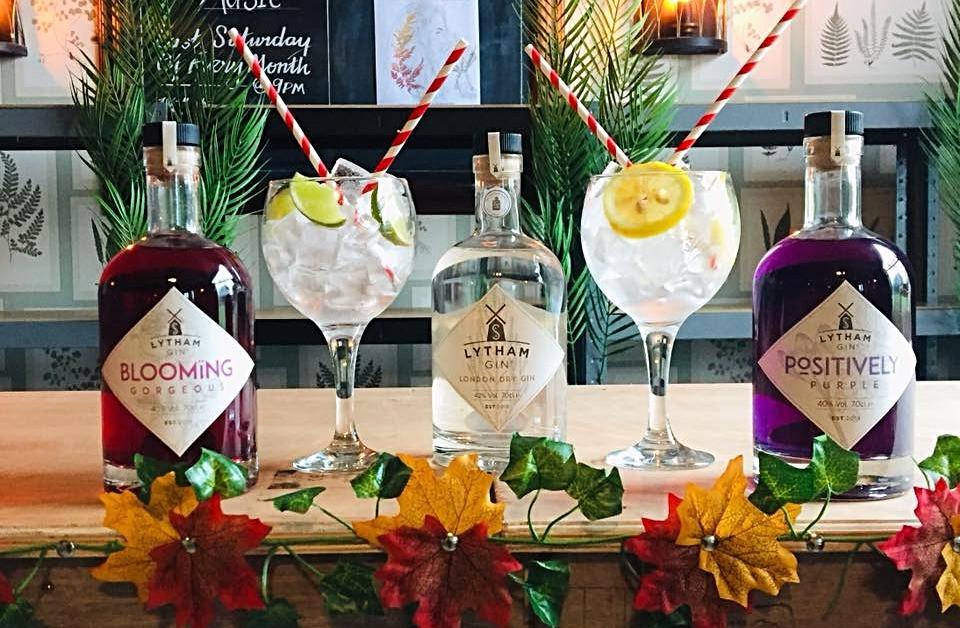 Gin on a bar