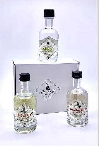 Gift set of three 5cl Lytham Gin Liqueurs