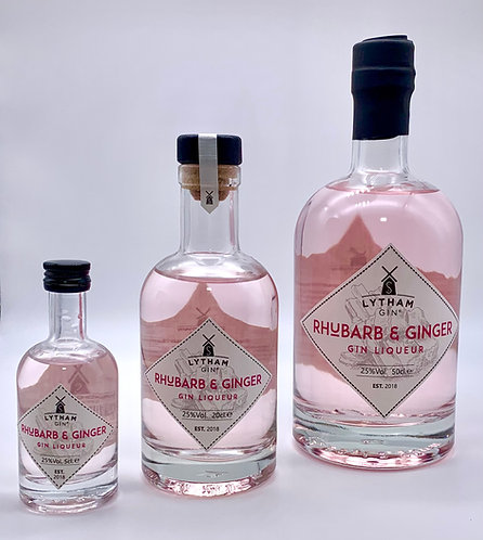 Rhubarb and Ginger Gin Liqueur - 25% ABV