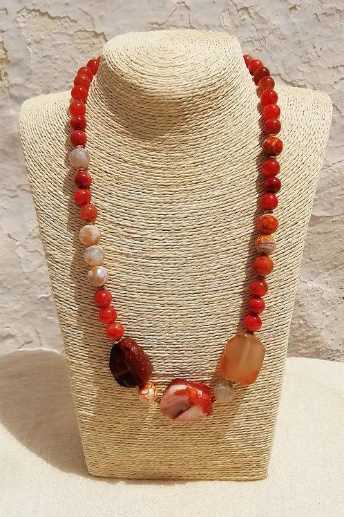 Carnelian necklace - Κολιέ κορνεόλη