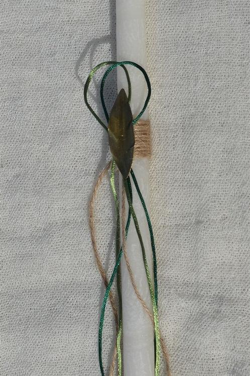 Λαμπαδάκι με φύλλο ελιάς