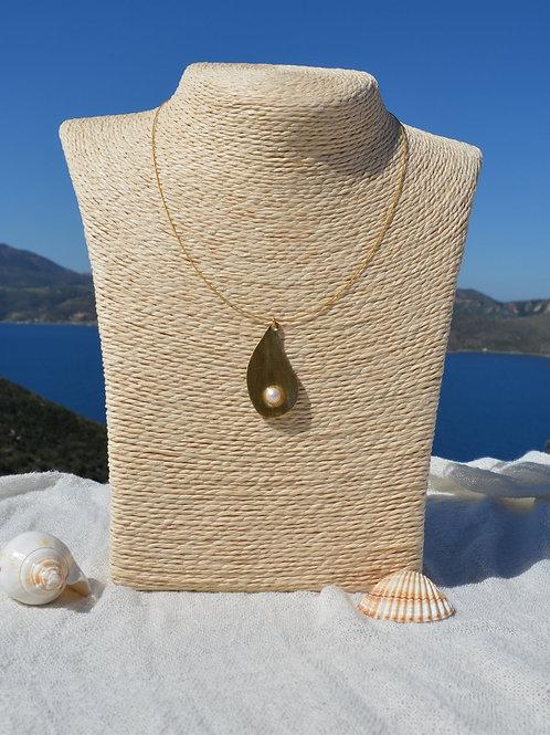 handcrafted drop with fresh water pearl χειροποίητα κοσμήματα