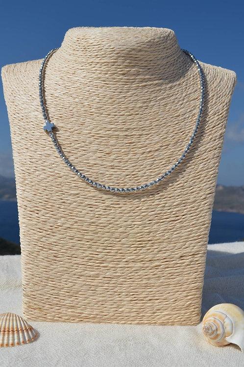 Hematite necklace - Κολιέ αιματίτης