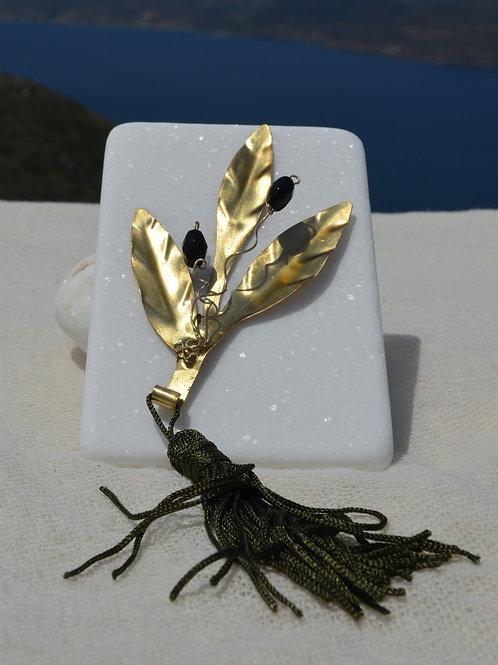 handcrafted olive branch χειροποίητο διακοσμητικό κλαδί ελιάς