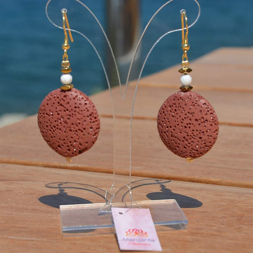 Lava earings - Σκουλαρίκια λάβα