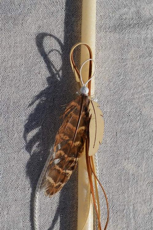 Λαμπαδάκι εκρού με φτερό